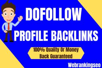 I will manually create 100 dofollow high quality profile backlinks