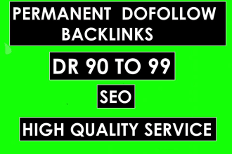 I will manually create 20 high DR 90-99 Quality Dofollow Backlinks for seo service.