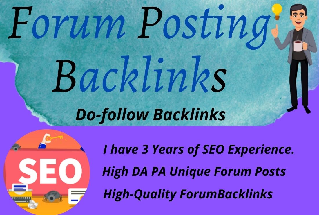 I will 50 High Authority Forum Posting Backlinks and Rank for your website