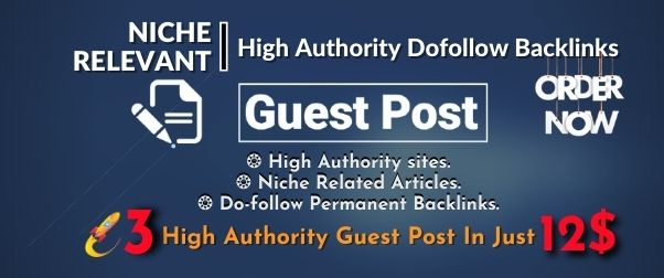Write and Publish High Da Guest Post,  All Categories Available on DA 95 to 65 sites.
