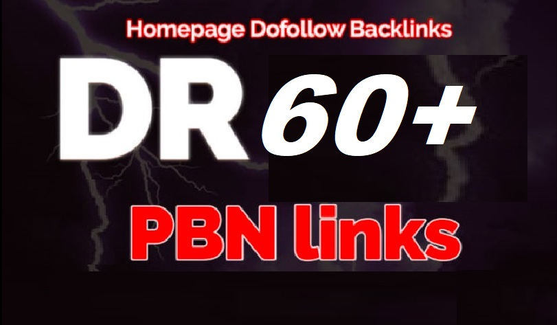 Build 4 Permanent DR 60+ Homepage PBN Dofollow Backlink