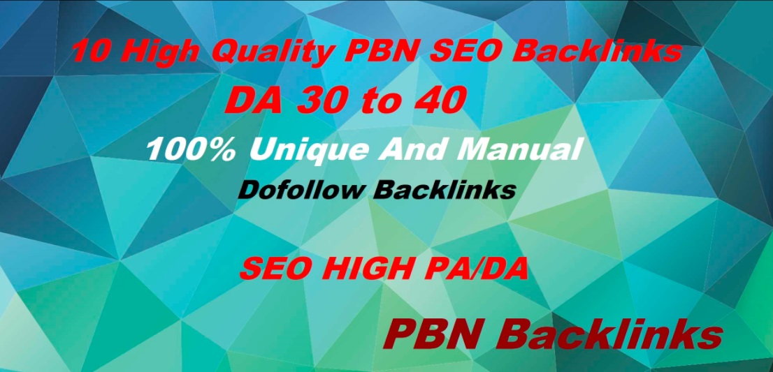 Build 10 High DA 25 To 50+ PBN Homepage Powerful High Quality Backlinks