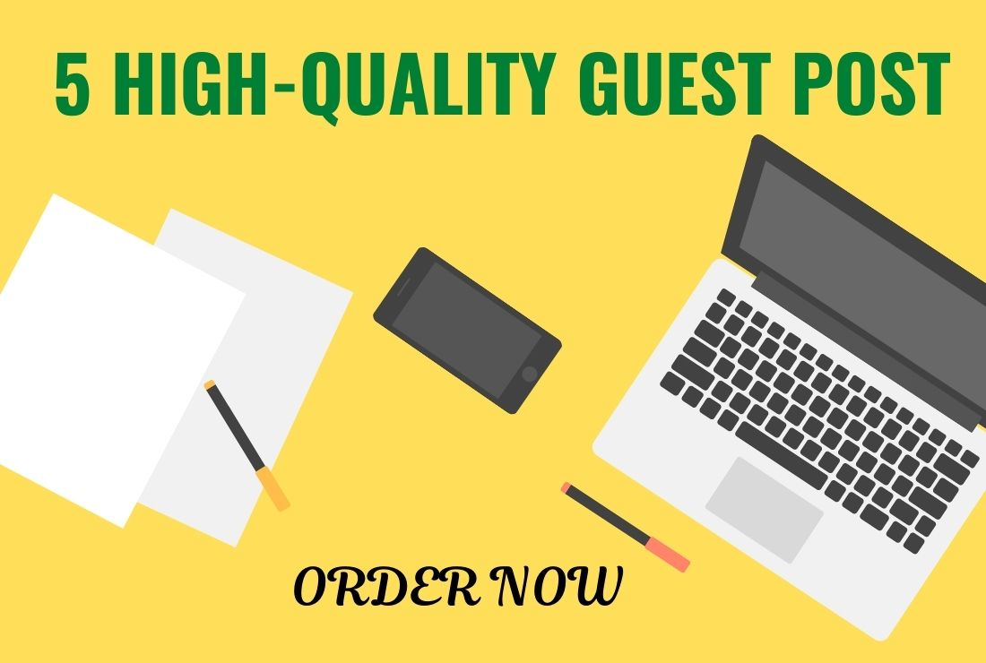 I Will Write and Publish 5 Guest Posts on Pro Sites