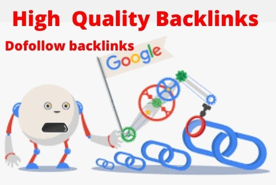 I will build high DR dofollow backlinks for off page SEO