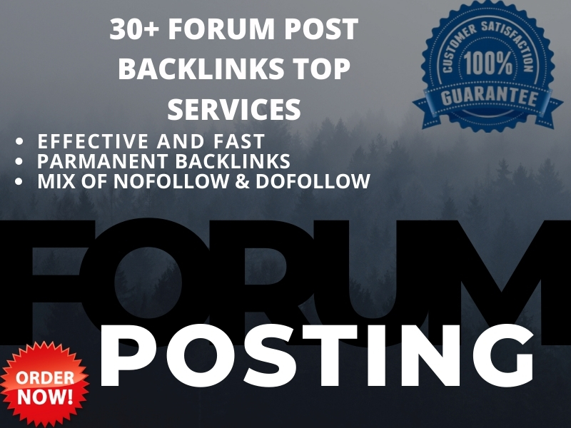 I will create HQ forum posting usually niche and general