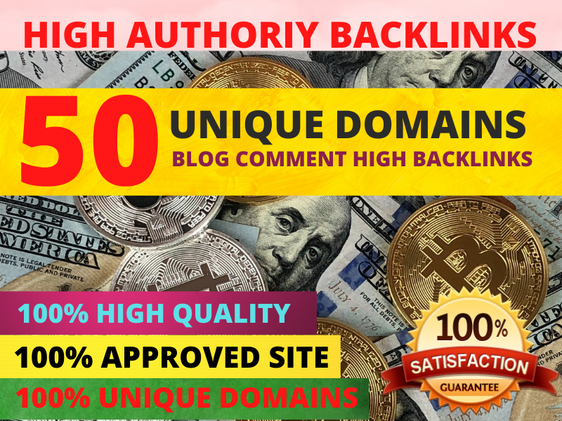 I will provide 50 high quality backlinks using blog comments