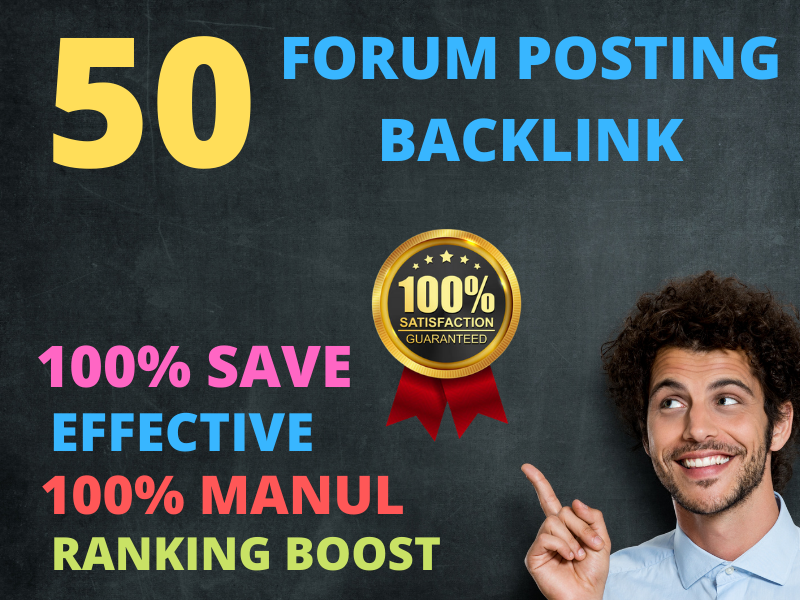 I will create almost 50 forum posting backlinks