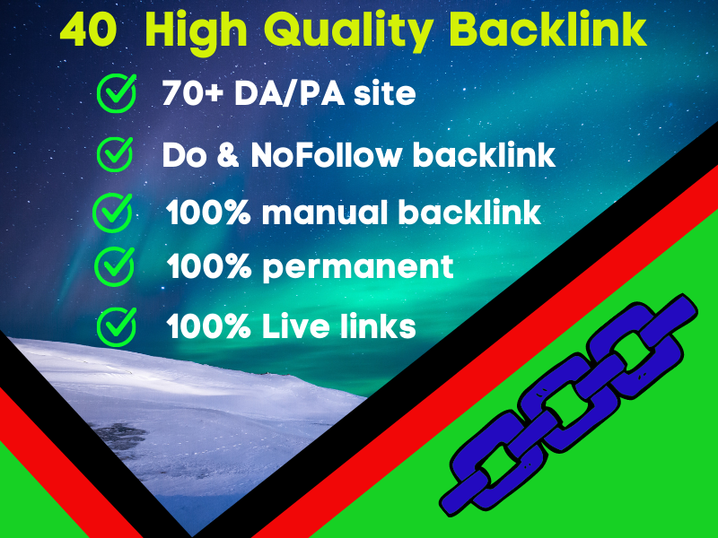 I Will Provide You 40 High Quality Profile Backlink.