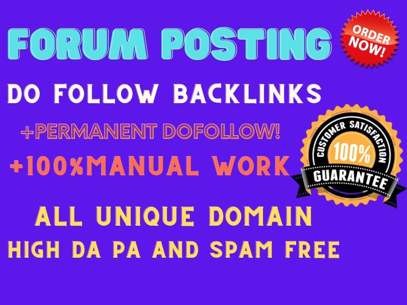 I will manually do 50 high quality forum posting For Google Rank
