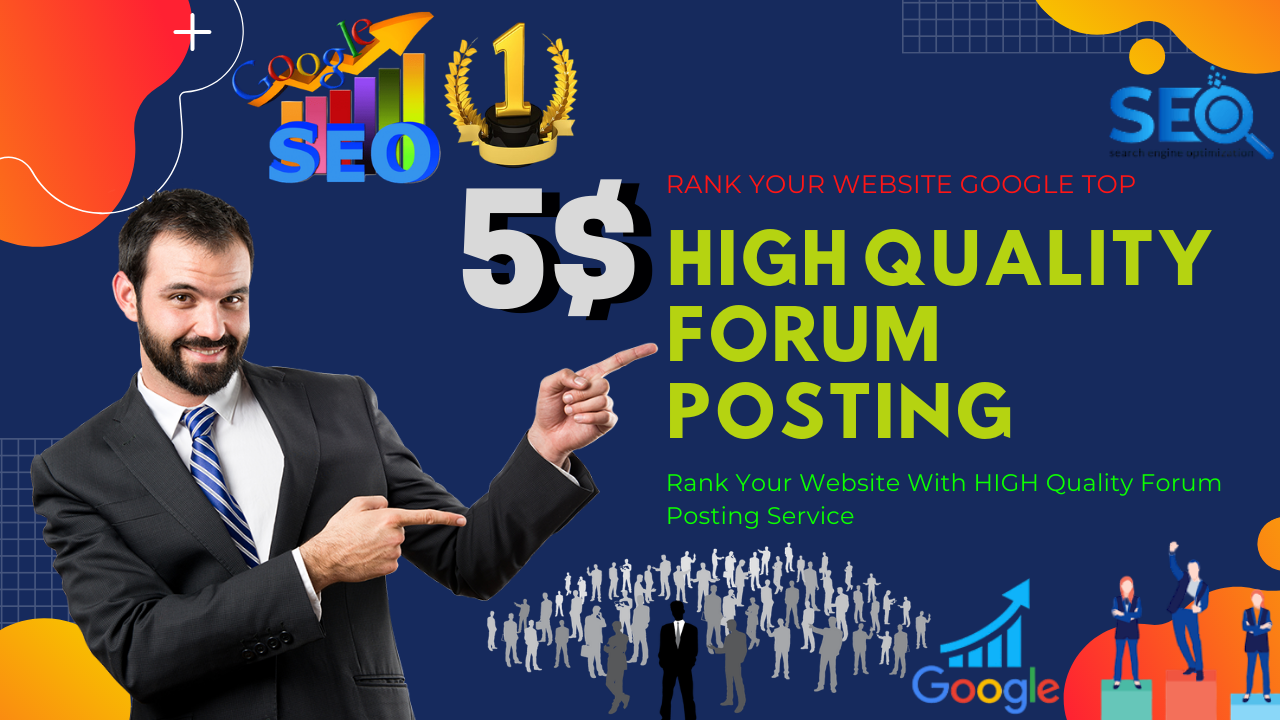 I will create a manual 40 High Quality DA Forum Posting backlinks