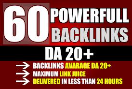 Create 60 PBN Backlinks High PA/DA TF/CF Homepage