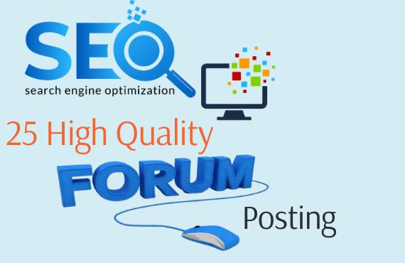I will do 40 high quality forum posting.
