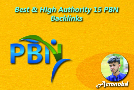 Best & High Authority 15 PBN Backlink
