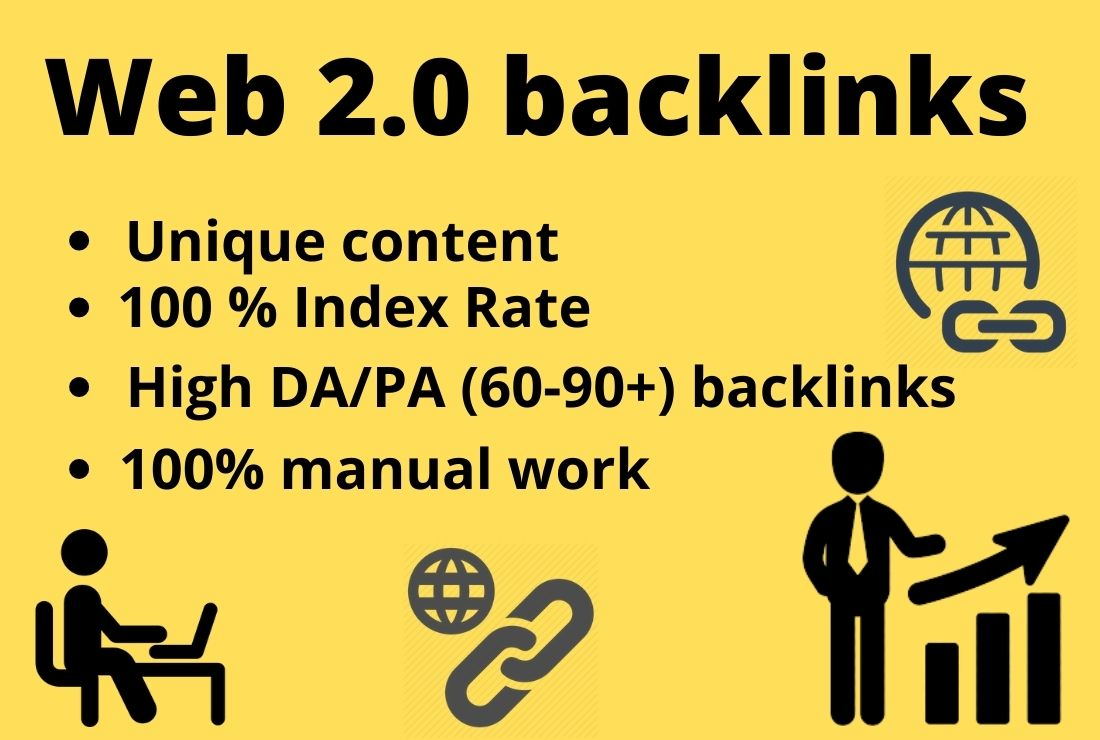 High-quality niche relevant 20 web 2.0 backlinks for your site rank on google