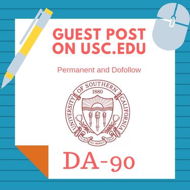 I will publish article on univesity of southern california usc edu da90 pa92 with backlink