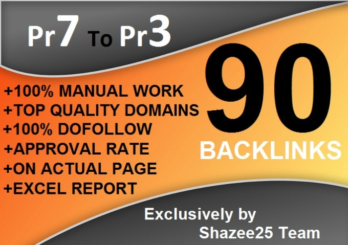 90 dofollow backlinks blog comments on actual page pr7 to pr3