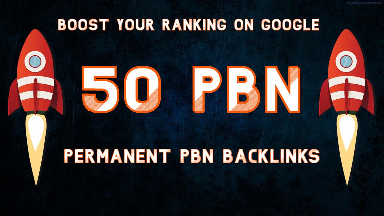 Sir,  I will do 50 Unique PBN dofollow homepage DA 25-40+ parmanent backlinks