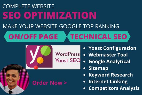 Complete SEO optimization make your website google top ranking