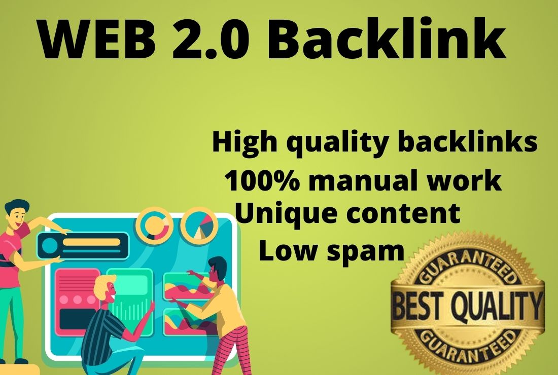 I Will Create High DA PA Dofollow Manually 20 Permanent Web2.0 Backlinks .