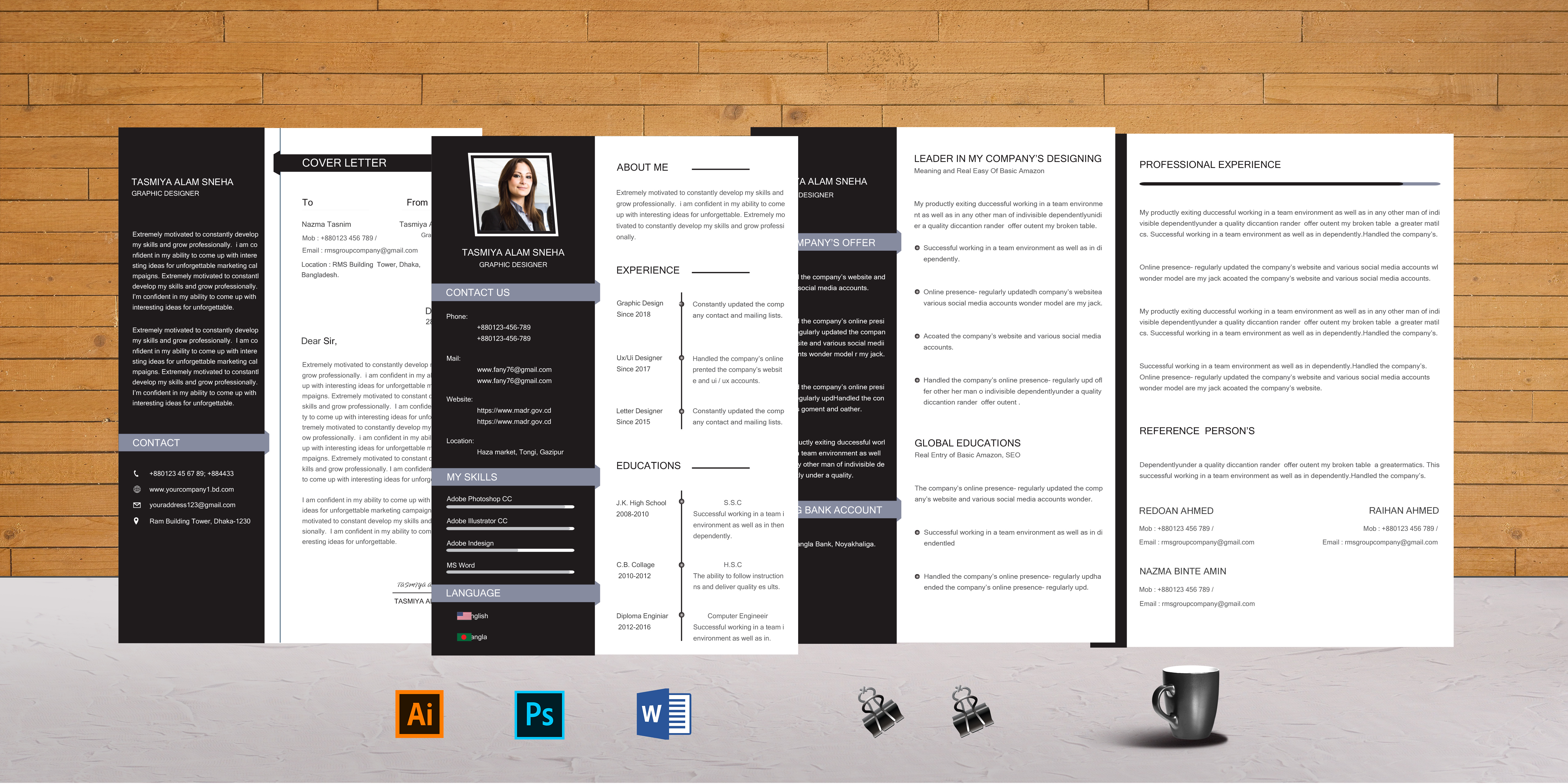 I will design or edit your resume/cv,  cover letter templates