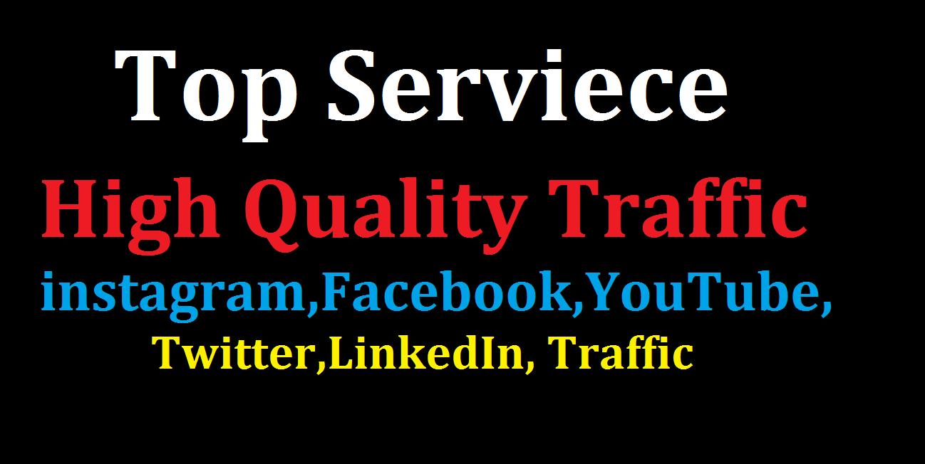 Bumper Offer 500,000 Worldwide Website USA Real Traffic Instagram, YouTube, Twitter, LinkedIn Traffic