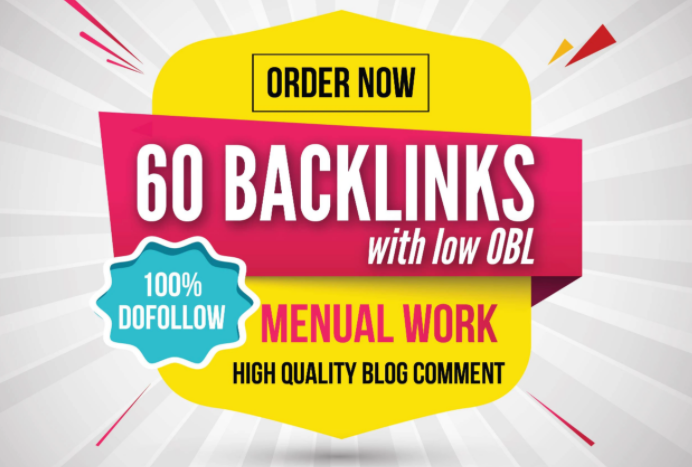 do dofollow 60 blog comments backlinks with low obl