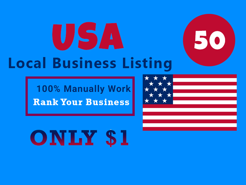 I Will Provide 50 Live local Citations or local listing for USA Business
