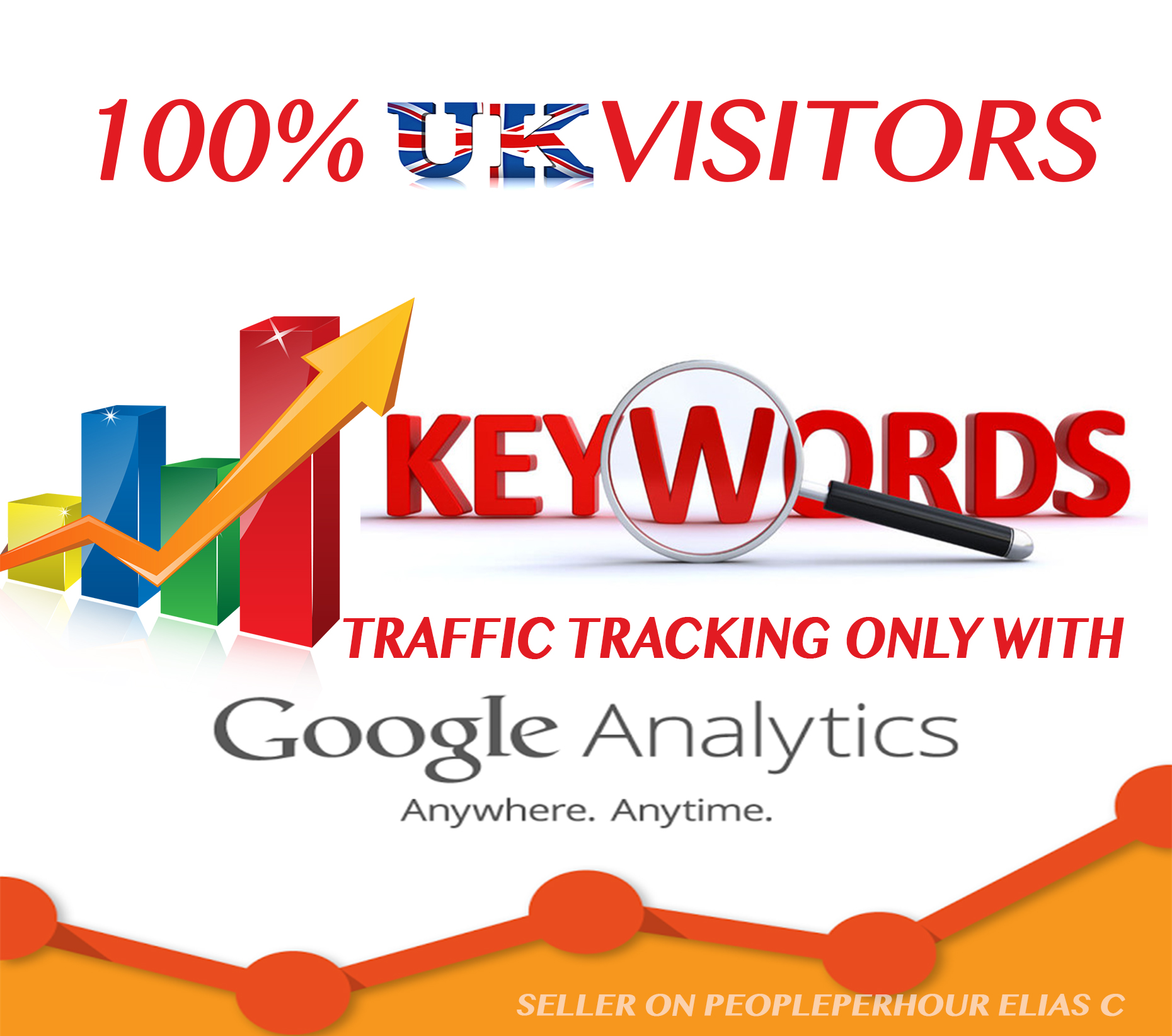 We can provide Keywords target traffic for 30 days