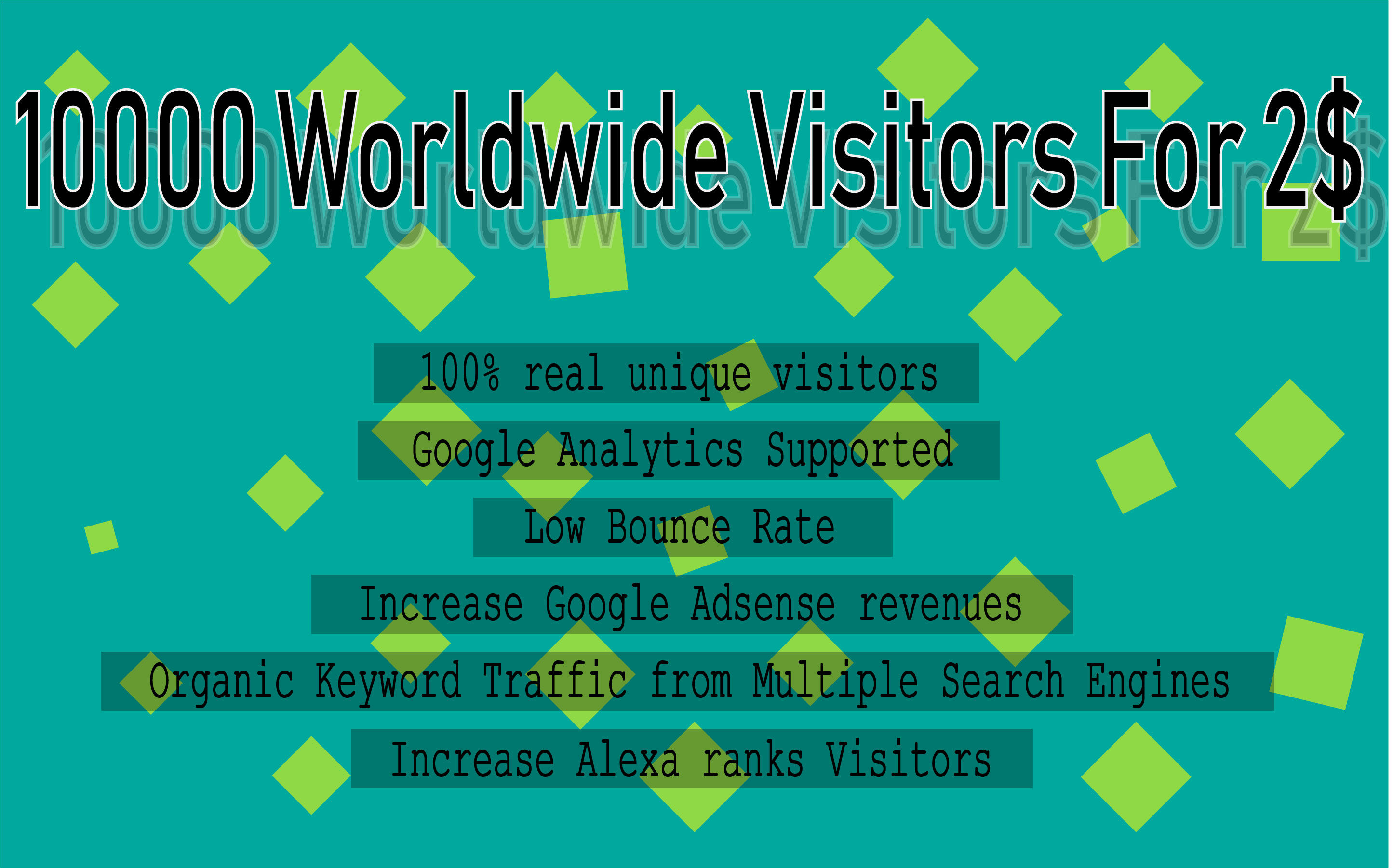 I Will Drive 10000 Worldwide Visitors For Your Website Or Blog