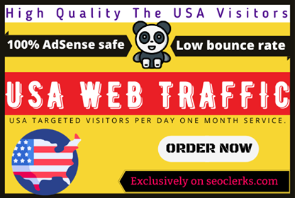 20,000 USA targeted Hight quality real visitors for one month