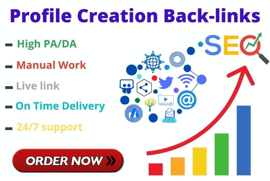 I will do HQ 50 do-follow high authority profile creation back-links