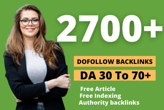 I will create 2700 contextual dofollow backlinks SEO high da link building