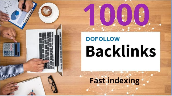 make 1000 white hat do follow backlinks with high index rate