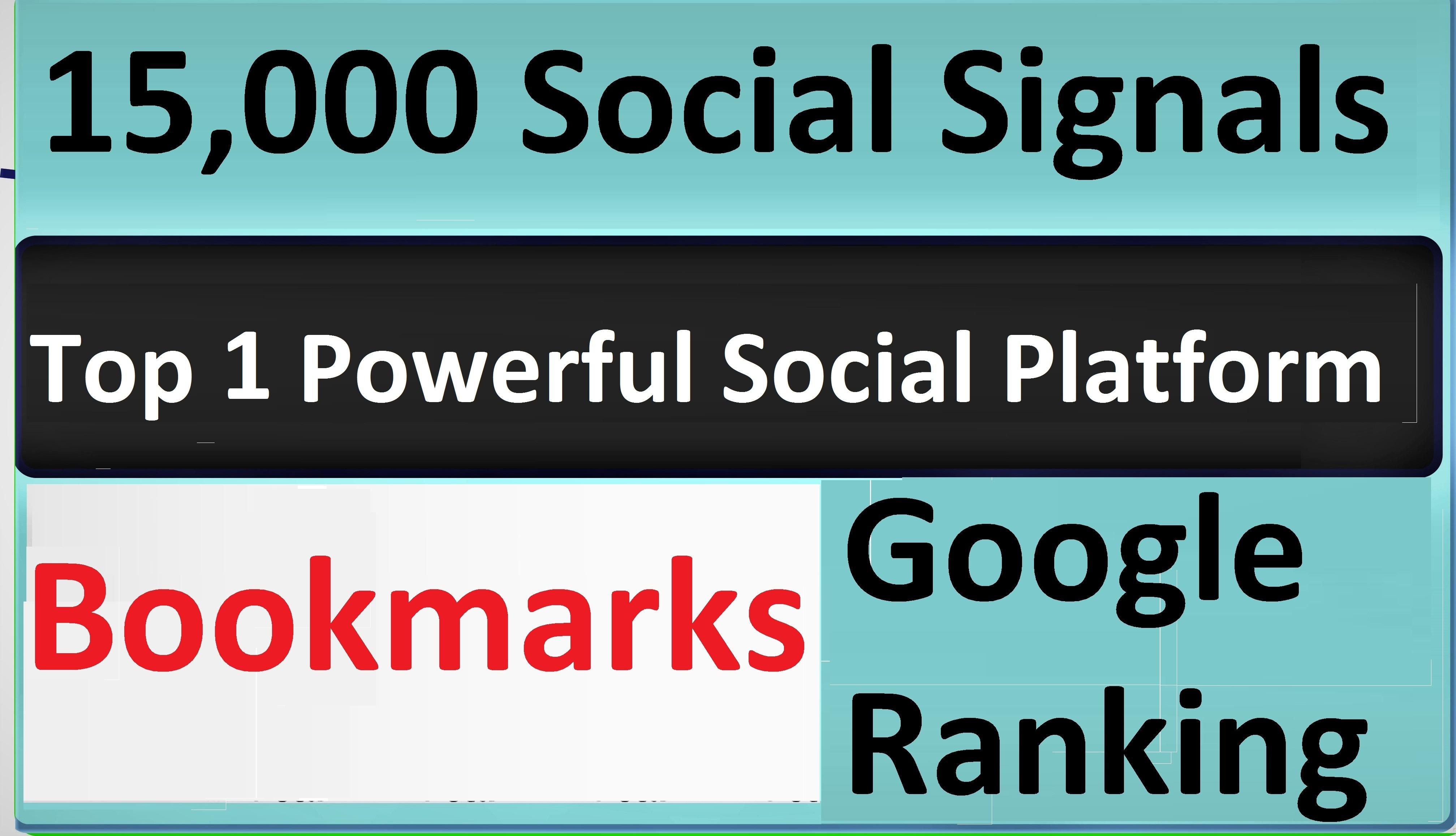 Give Top 1 Powerful Social Platform 15,000 PR9 SEO Social Signals Share Bookmarks Important Google
