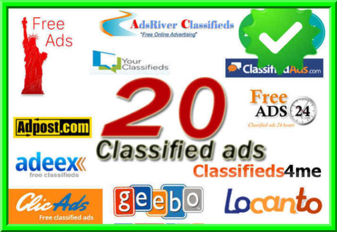 Manually Build 20 Classified Ads posting on High DA UK & USA websites link building service