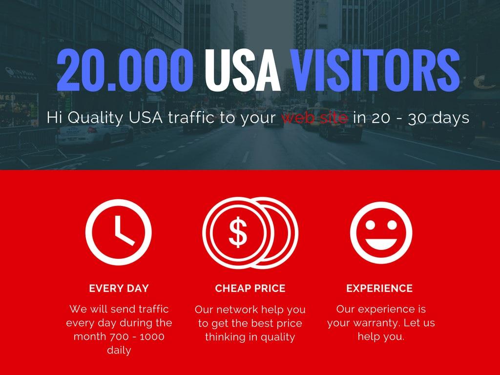 I will boost website organic real organic targeted USA web traffic