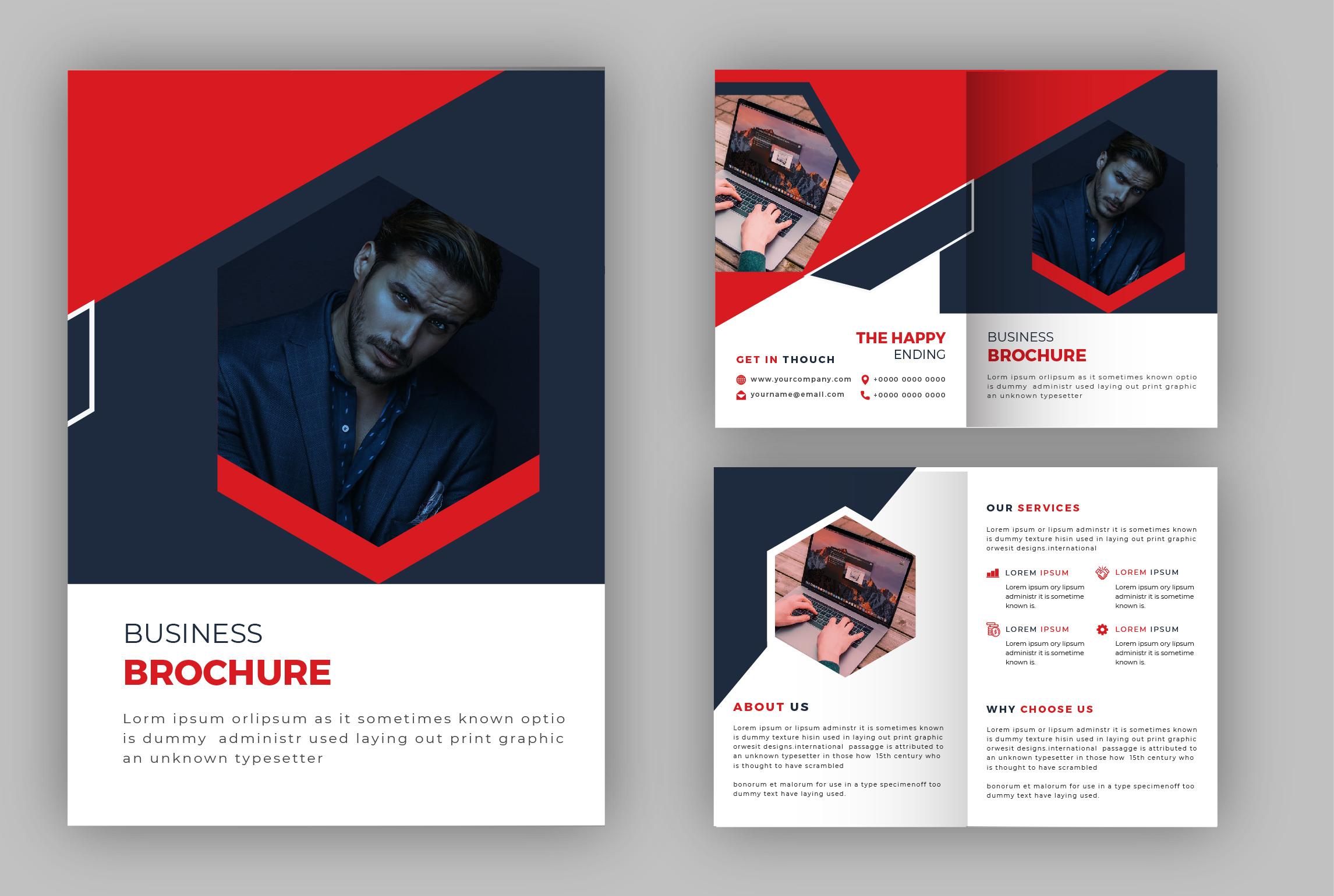 Design bi-fold brochure & tri-fold brochure within 12 hours.