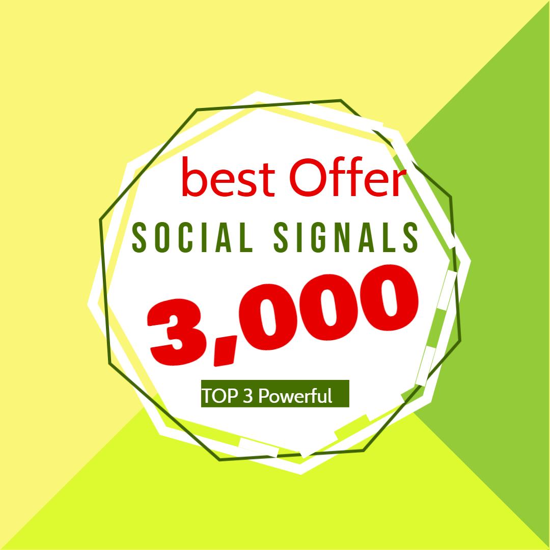 I will do manual 3,000 social signals from 3 social media sites