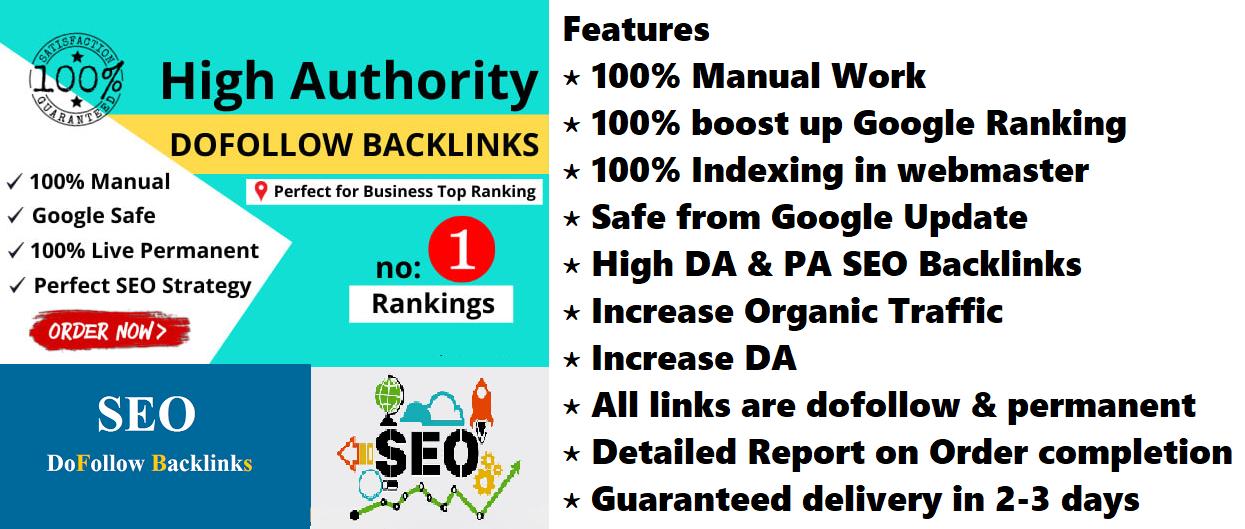 Create manual 200 pr9 dofollow seo backlinks