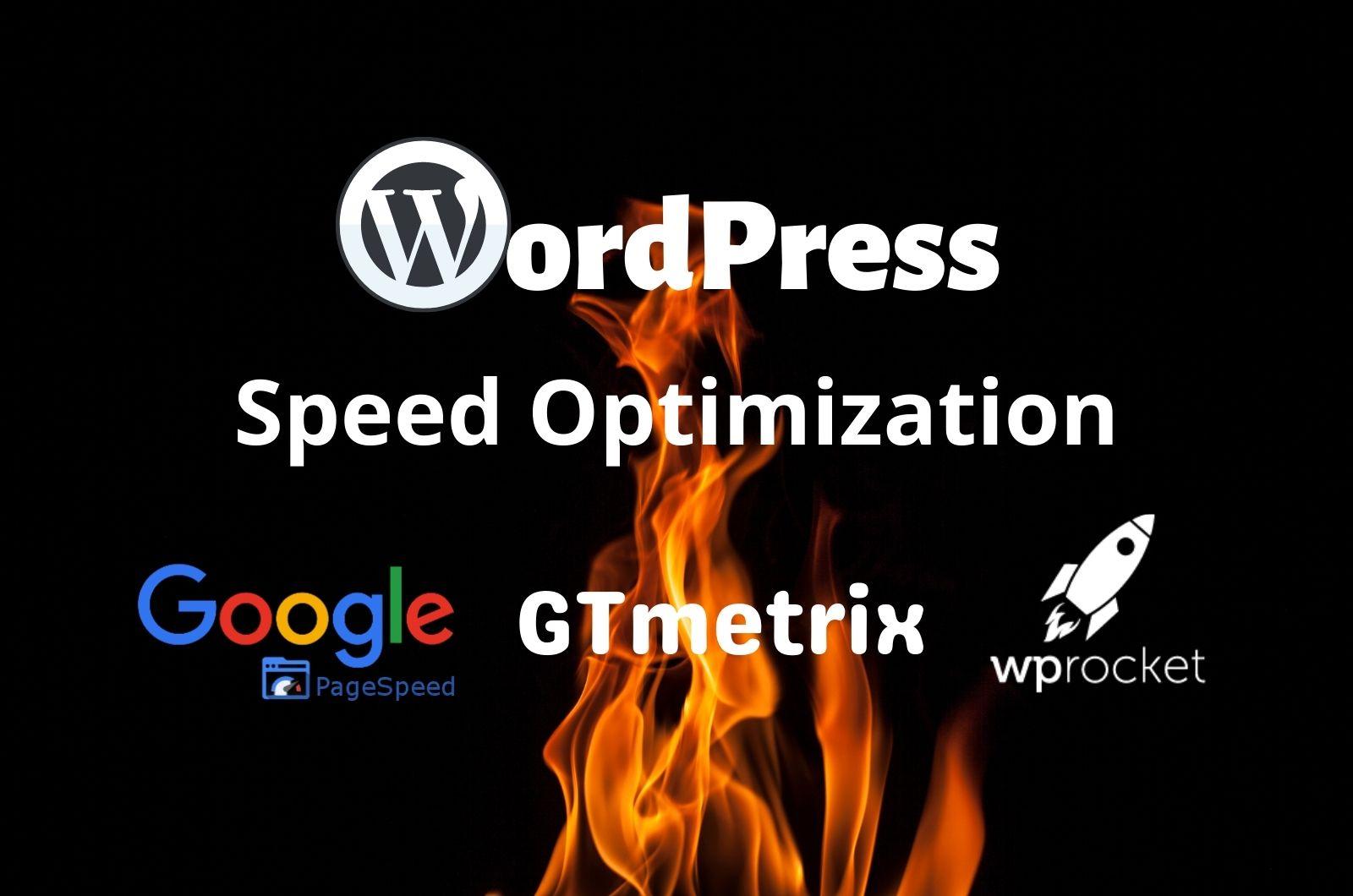 I will improve wordpress speed up for google page speed gtmetrix by wp rocket