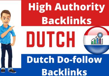 I will do high quality dutch SEO authority backlinks da DR