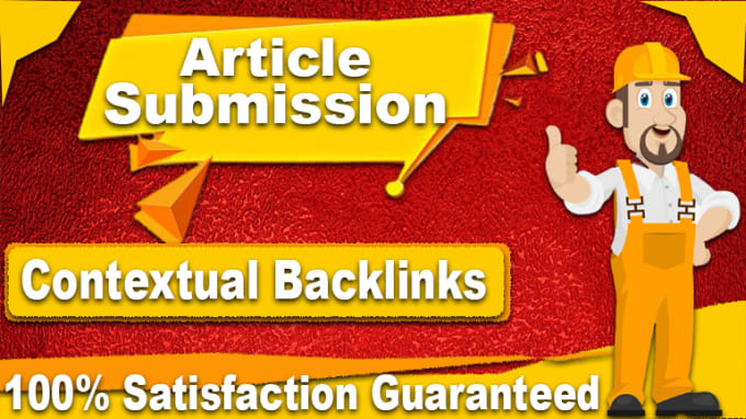 I will provide 10 unique article submission with high authority seo backlinks