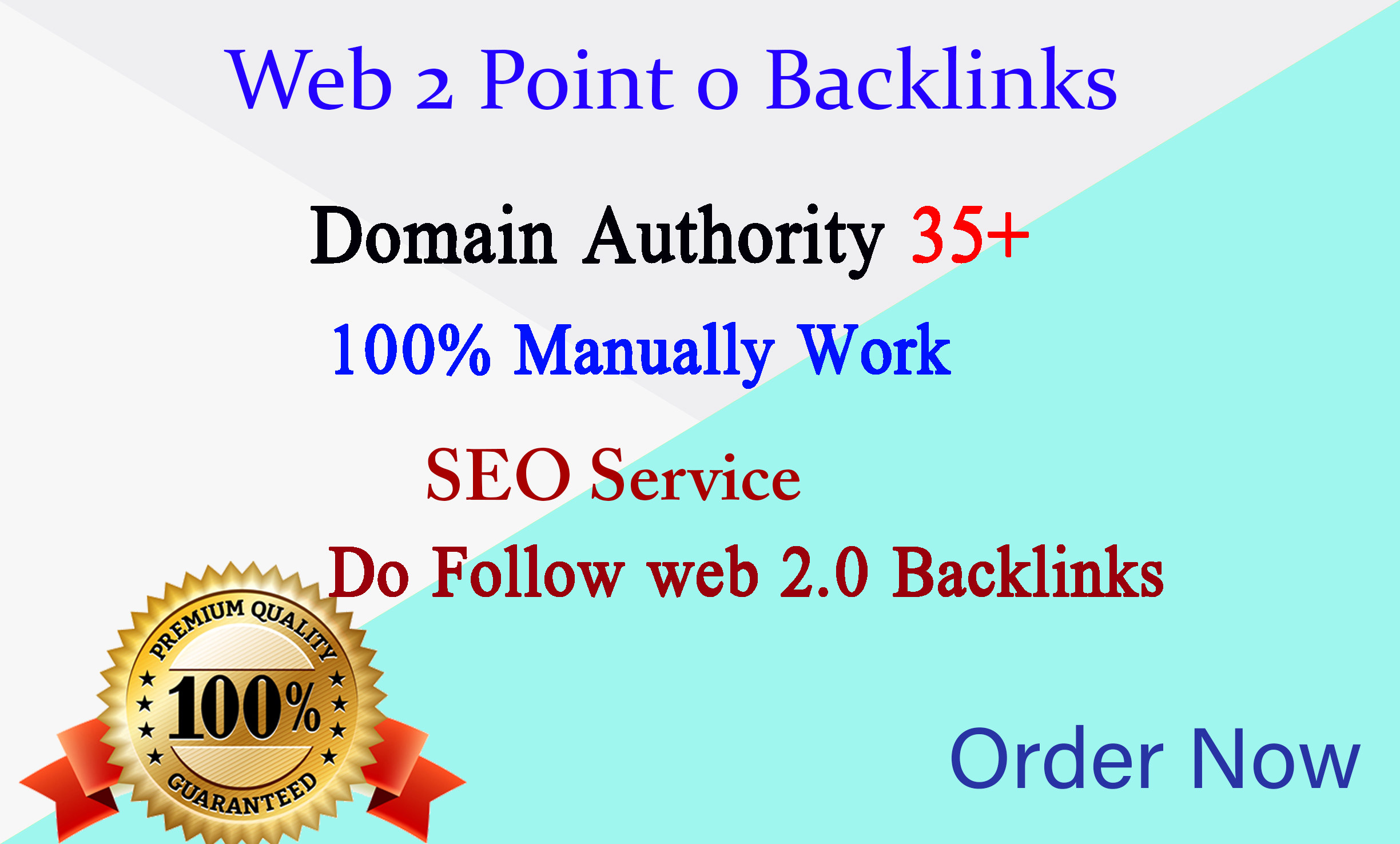 I will build high quality web 2 0 backlinks for you