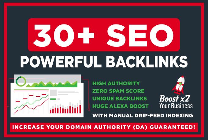 build 30 SEO high da dofollow backlinks