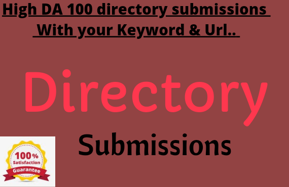 I will do 100 directory submissions with high da