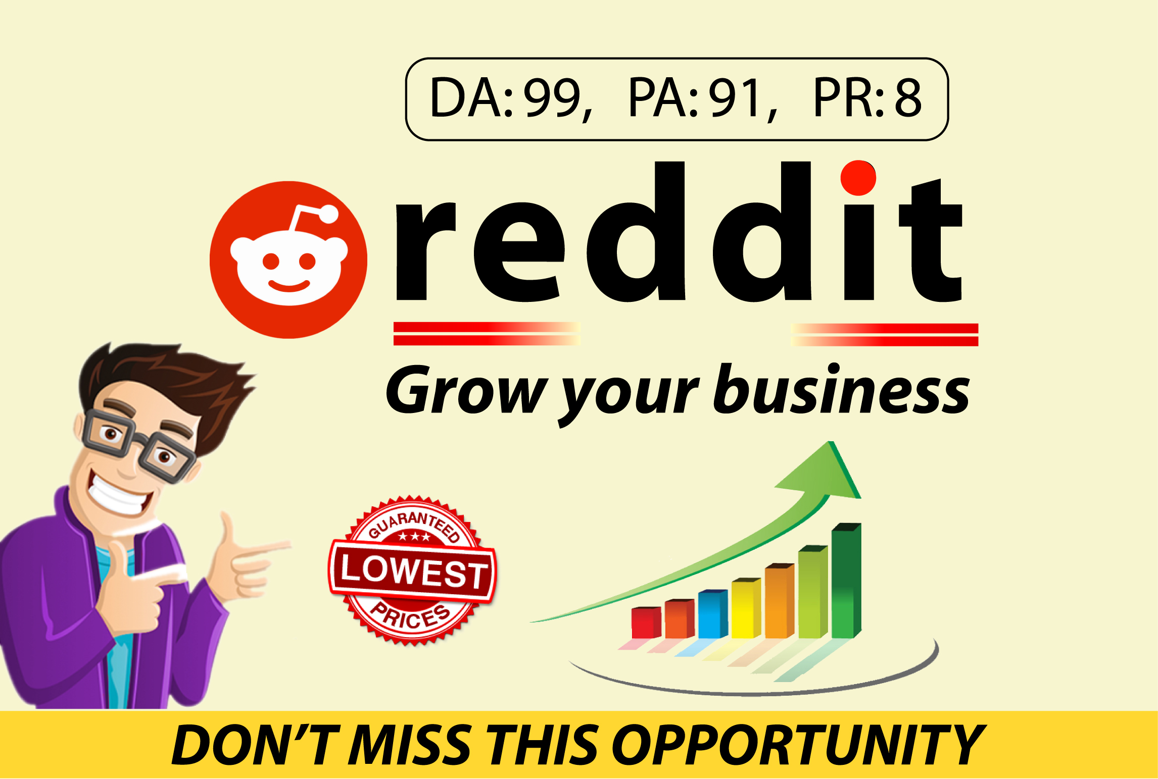 Promote your website 5 high quality guest posts on reddit