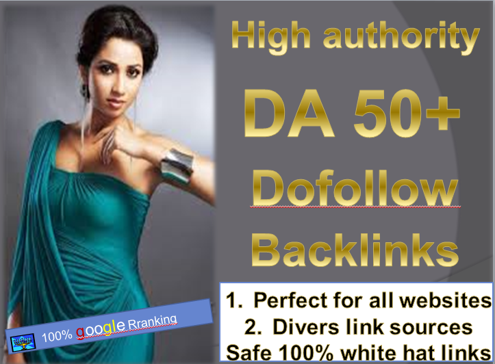 I will do high quality dofollow SEO backlinks da 50+ authority white hat link building google to
