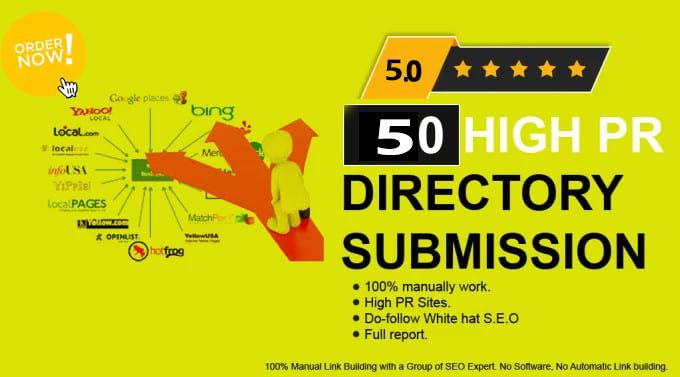 I will do 65 powerful manual directory submission backlinks (80+DA )