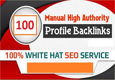 I will create 60 profile backlinks from high DA PA