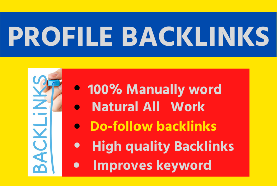 Manual 20 High Quality Profile Backlinks help For Google Top Ranking link building